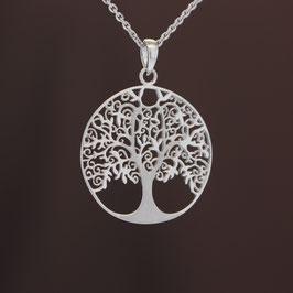 "Anhänger ""Lebensbaum"" aus rhodiniertem 925-Sterlingsilber"
