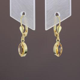 Ohrhänger aus 333-Gelbgold und Citrin