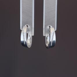 Scharnierkreole aus rhodiniertem 925-Sterlingsilber und Zirkonia