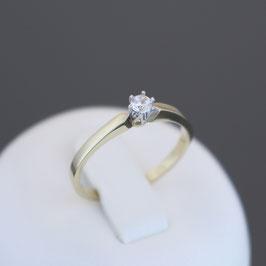 Ring aus 333-Gelb- und -Weißgold und Zirkonia
