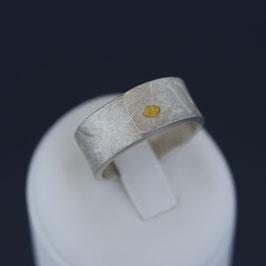 Offener Ring aus -999-Feinsilber und -999-Feingold
