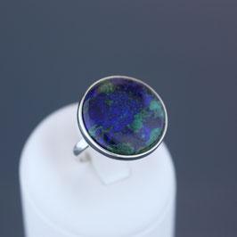 Ring aus 925-Sterlingsilber und Azurit