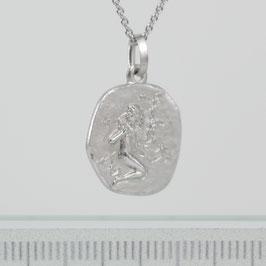 """Anhänger """"Sternzeichen Jungfrau"""" aus rhodiniertem 925-Sterlingsilber"""