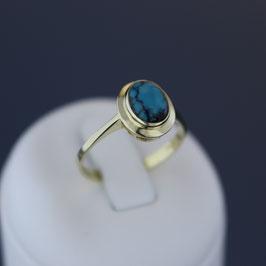 Ring aus 333-Gelbgold und Türkis