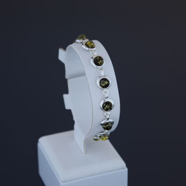 Armkette aus 925-Sterlingsilber und baltischen Bernsteinen