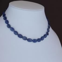 Halskette aus 925-Sterlingsilber und Kyanit