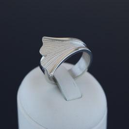 """Offener Ring """"Gingko"""" aus 925-Sterlingsilber"""