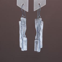Ohrhänger aus geschwärztem 925-Sterlingsilber