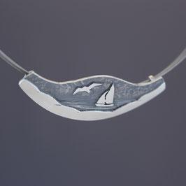 """Anhänger """"Segelschiff"""" aus geschwärztem 925-Sterlingsilber"""
