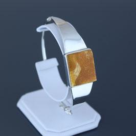 Armreif aus 925-Sterlingsilber und baltischem Naturbernstein