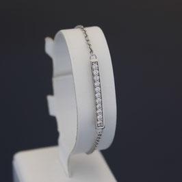 Armkette aus rhodiniertem 925-Sterlingsilber und Zirkonia