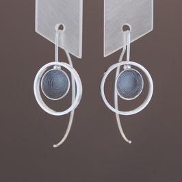 Ohrhänger aus geschwärztem (sulfiert) 925-Sterlingsilber