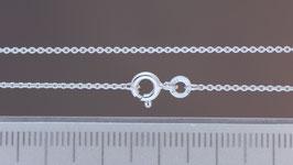 Halskette (Anker, rund) aus 333-Weißgold
