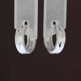 Scharnierkreole aus rhodiniertem 925-Sterlingsilber