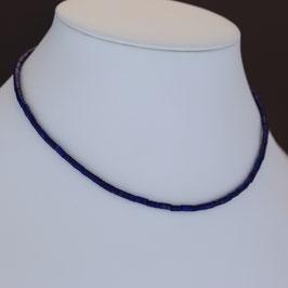 Collier aus 925-Sterlingsilber und Lapislazuli auf Edelstahldraht