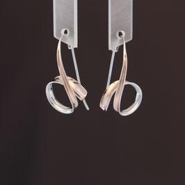 Ohrhänger aus rhodiniertem, teilweise rosévergoldeten 925-Sterlingsilber