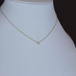Collier aus 585-Gelbgold und Diamant