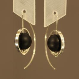 Handgearbeitete Ohrhänger aus 925-Sterlingsilber mit Achatkugeln