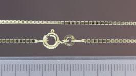 Halskette (Venezia, vierkant) aus 333-Gelbgold