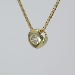 Anhänger aus 585-Gelbgold mit Diamant (0,1 ct.)
