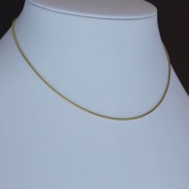 Schlangenkette (1,4 mm) aus 333-Gelbgold