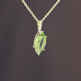 Anhänger aus 585-Gelbgold, Peridot und Diamant
