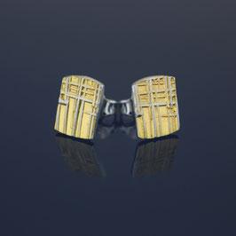 Ohrstecker aus teilweise gelbvergoldetem 925-Sterlingsilber