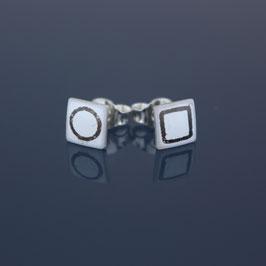Ohrstecker aus 925-Sterlingsilber und Emaille
