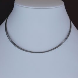 7-reihiger Edelstahlreif mit Verschluss aus 925-Sterlingsilber