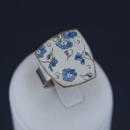 Ring aus 925-Sterlingsilber und Emaille