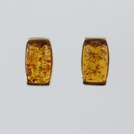 Ohrstecker aus 333-Gelbgold und baltischem Bernstein