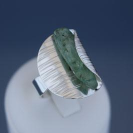Offener Ring aus 925-Sterlingsilber und Disthen