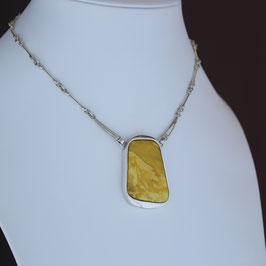 Collier aus 925-Sterlingsilber und baltischem Naturbernstein
