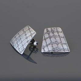 Ohrstecker aus geschwärztem 925-Sterlingsilber