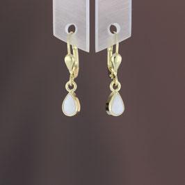 Ohrhänger aus 333-Gelbgold und Opal