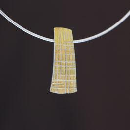 Anhänger aus teilweise gelbvergoldetem 925-Sterlingsilber