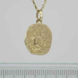 """Anhänger """"Sternzeichen Jungfrau"""" aus 333-Gelbgold"""
