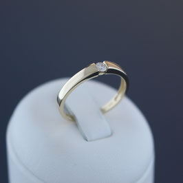 Ring aus 585-Gelbgold und Brillant