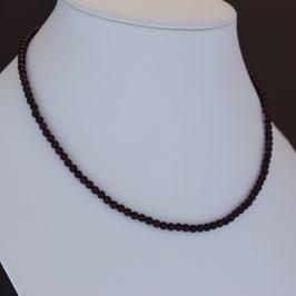 Collier aus 925-Sterlingsilber und Granat auf Edelstahldraht