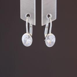 Ohrhänger aus rhodiniertem 925-Sterlingsilber und Zirkonia