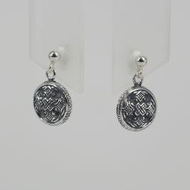Ohrhänger aus z. T. geschwärztem Sterling-Silber