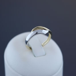 Ring aus 375-Gelb- und -Weißgold