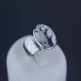 Ring aus 925-Sterlingsilber und Dendritenachat