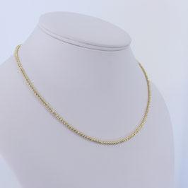 Diamantierte Kugelkette (2,2 mm) aus 585-Gelbgold