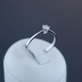 Ring aus 585-Weißgold und Brillant