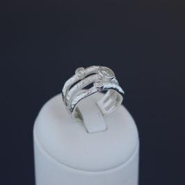 Ring aus 925-Sterlingsilber und Zirkoniame