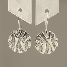 Handgearbeitete Ohrhänger aus 925-Sterlingsilber
