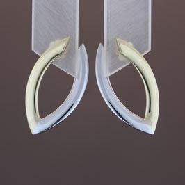 Ohrhänger aus 585-Gelb- und -Weißgold