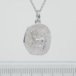 """Anhänger """"Sternzeichen Widder"""" aus rhodiniertem 925-Sterlingsilber"""