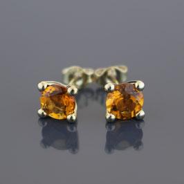 Ohrstecker aus 333-Gelbgold und Citrin